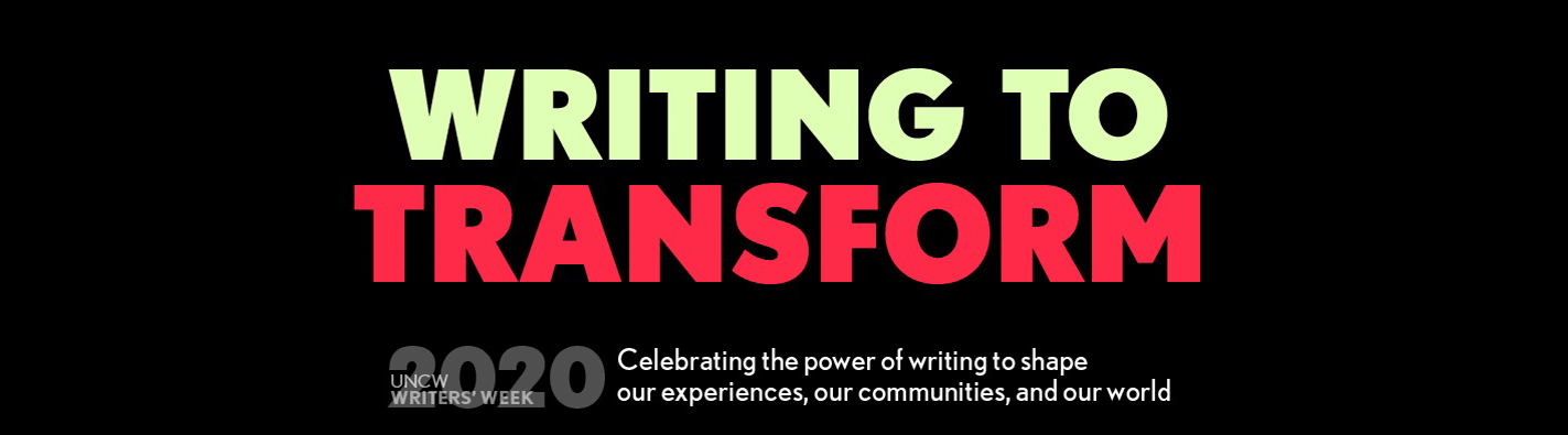 Writing to Transform: Writers' Week 2020